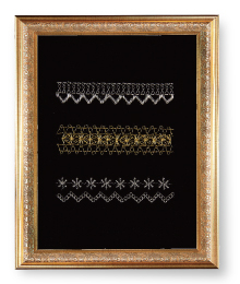 Lace-patterned sampler